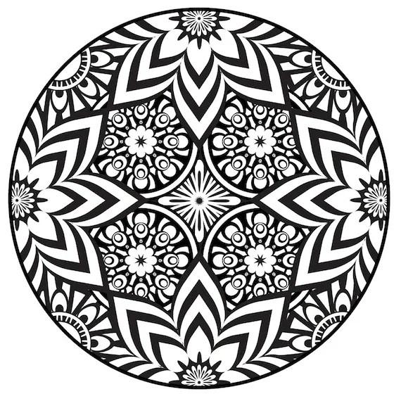 Items similar to Mandala Coloring Page, Instant PDF ... | coloring pages mandalas printable