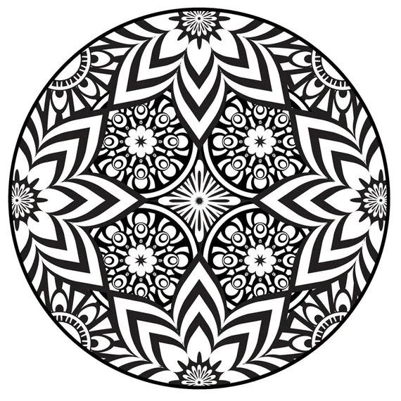 Items similar to Mandala Coloring Page, Instant PDF ... | free printable mandala coloring pages for adults easy