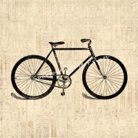 Items similar to Old Bicycle Art Antique Wall Art Bike