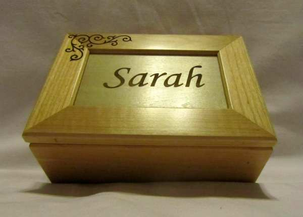 Personalized Wooden Keepsake Boxes for a Wedding Gift