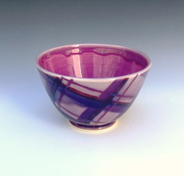 Purple Soup Cereal Bowl Porcelain Allisonglickceramics