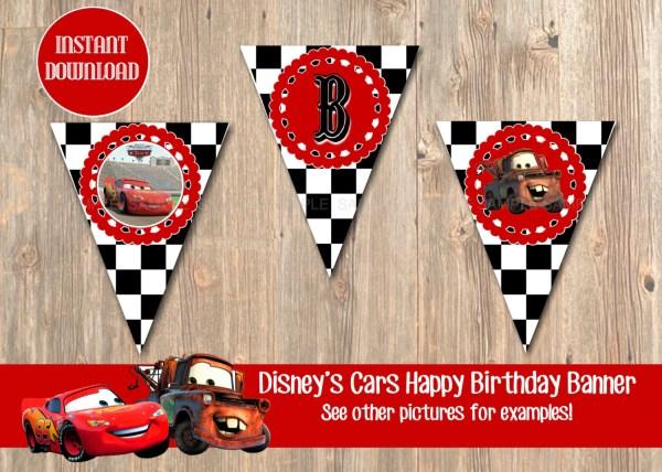 Disney Cars Happy Birthday Banner Printable Year Of Clean Water