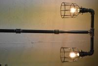 """Items similar to Industrial """"Tee"""" Plumbing Pipe Floor Lamp ..."""