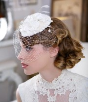 lace bridal hat hair accessory