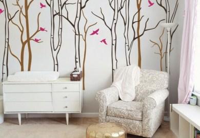 Baby Nursery Wall Decals Birch Trees Decal Tree Wall