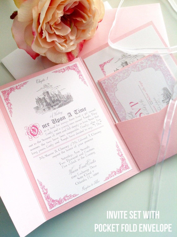 Digital Wedding Invitation  Fairytale White and
