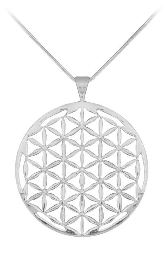 Flower of Life LARGE Sterling Sliver Pendant