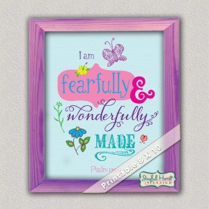 Psalm 139:14 Scripture art by JoDitt Designs