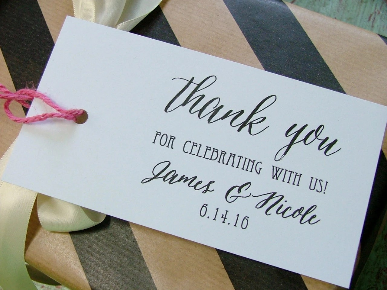 Items Similar To Thank You Wedding Stamp, Personalized