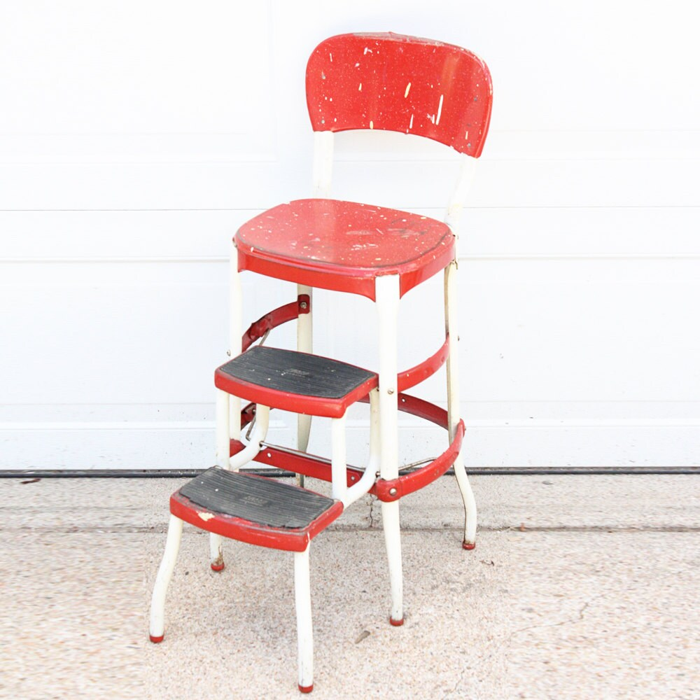 Vintage stool kitchen stool step stool Cosco chair