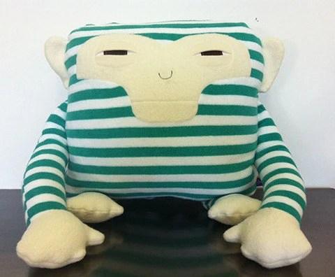 Monkey Decorative Pillow by velvetmoustache on Etsy