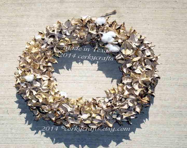 Cotton Burr Wreath/rustic wedding/ Unique one of a kind/ farm house decor - Corkycrafts