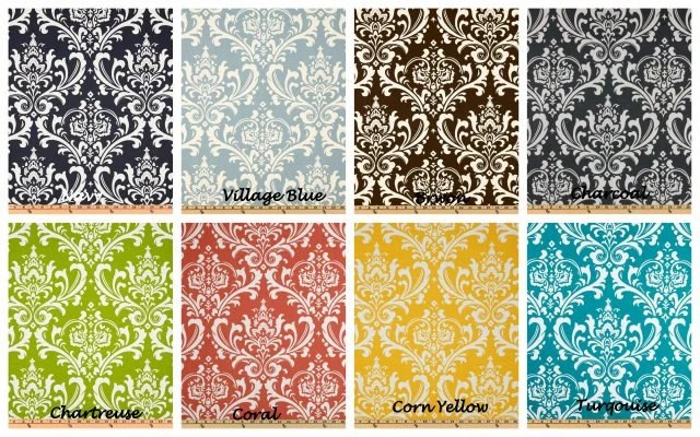 Items Similar To Damask Fabric Premier Prints Shower Curtain Standard Size 72x72 Navy