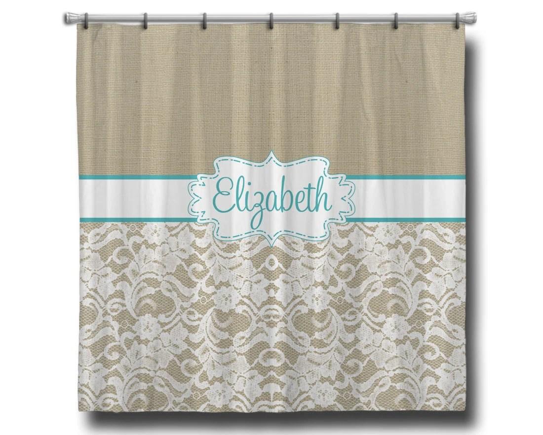 Monogram Shower Curtain