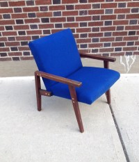 Mid Century Modern Blue Chair