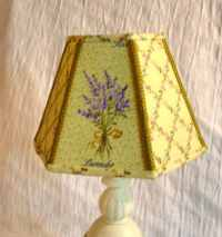 English Country Cottage Farmhouse Style Lampshade Herb