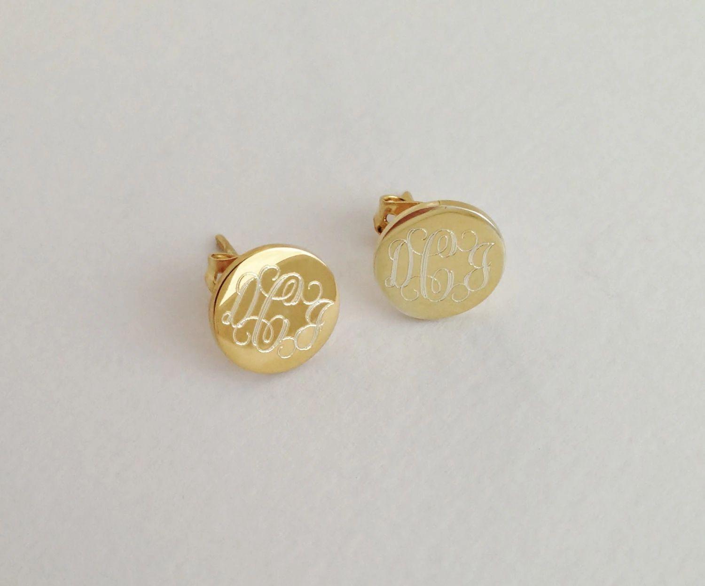 etsy monogram earrings