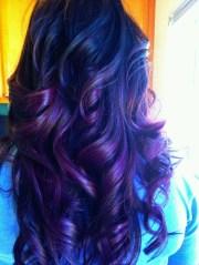violet hair deep purple ombre