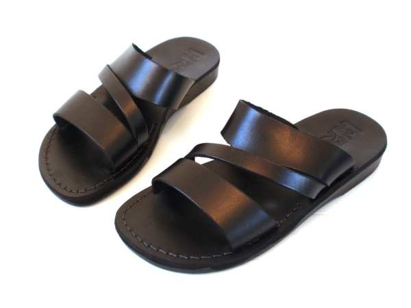 Brown Leather Sandals Men Greek Style Sandalimshop