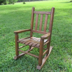 Childs Wooden Rocking Chair Steel Rubwood Wood Children 39s