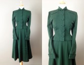 SALE // Vintage 50s Lilli Ann Green Suit // Medium