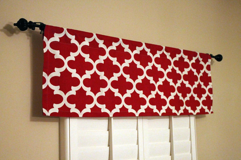 red valances for kitchen windows log cabin cabinets window valance