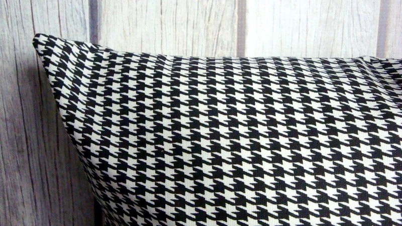 leather sofa cushions made to measure com sale 2 black and white houndstooth pillow covers set of two 18x18
