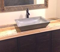 Concrete Rectangle Bowl Vessel Bathroom Sink 16 x