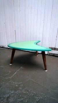 Mid Century Modern End Table Boomerang shape Kidney Shaped