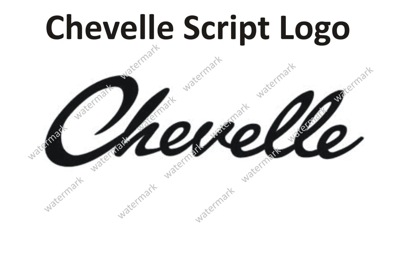 Chevrolet Chevy Chevelle Script Logo Decal Sticker By Robnmon