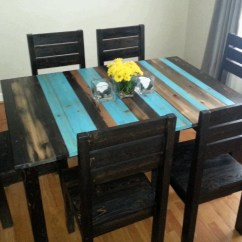 Rustic Kitchen Tables And Chairs Lighting Ideas Distressed Dining Table By