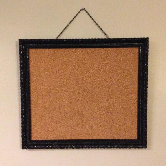 Items similar to Black Ornate Framed Bulletin Board