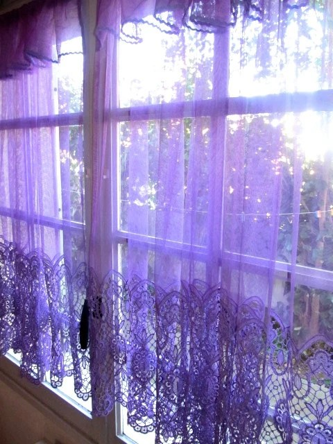Purple Lace Curtains French Lace Panels Purple Bedroom