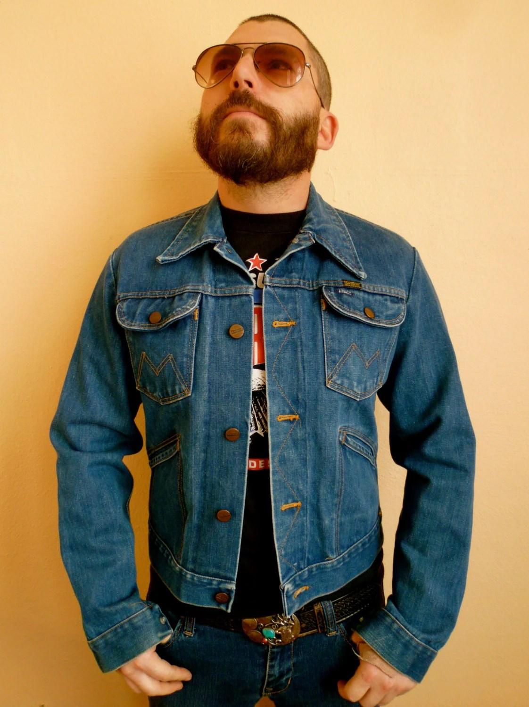 Vintage 70s Maverick Mens Denim Jacket size small