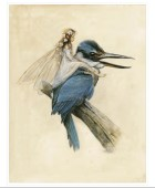 SIGNED Fine Art Print - The Fairy on the KINGFISHER - small