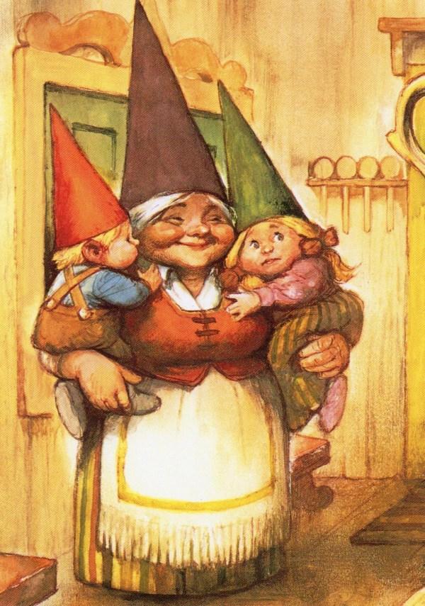 Art Print Rien Poortvliet Gnome Elf Lisa David