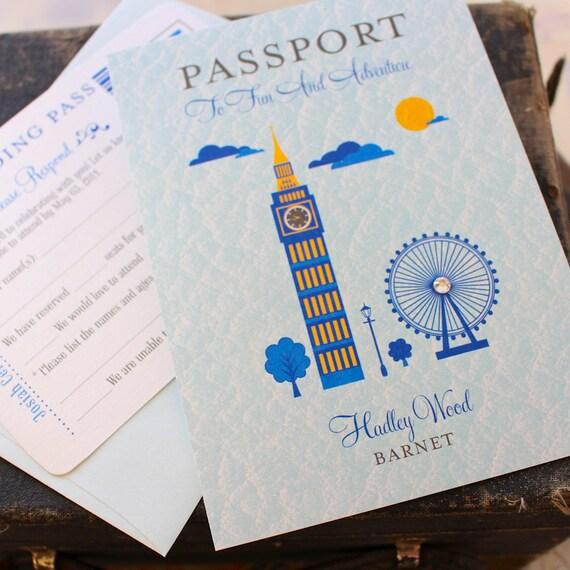 Primo compleanno passaporto a Londra invito di compleanno