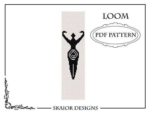 Pagan Goddess Loom Bead Pattern Bracelet Square Stitch Loom