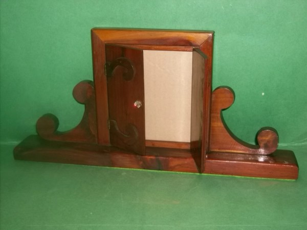 Vintage Mahogany Shadow Box Frame Holds 49