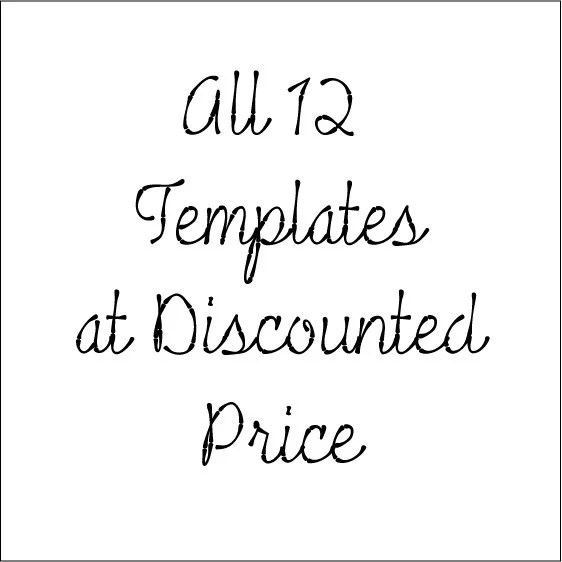 All 12 Cabtopia's Designer Cabochon Template Sets 1 2 by