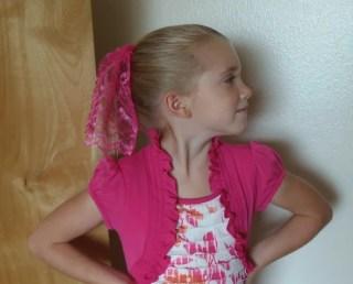 Bright Pink Princess Starter Mantilla for Young Girls