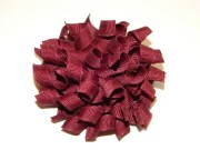 burgundy korker hair bow school