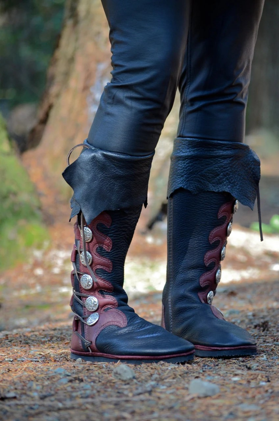 KneeHigh Custom Viking Boots with Cuff Custom by