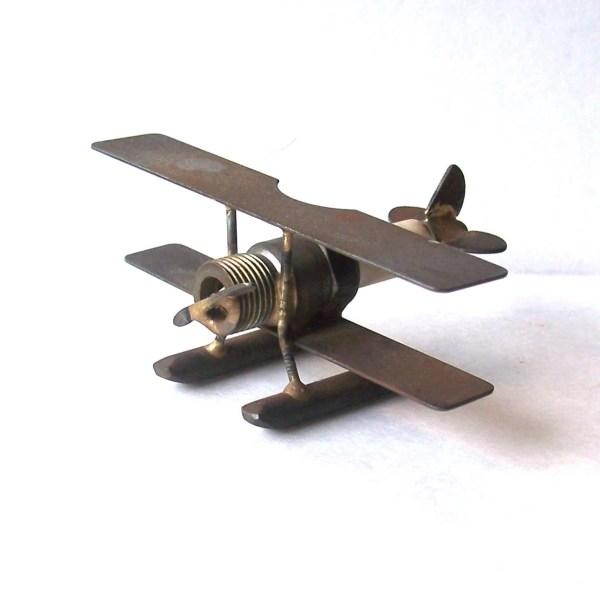 Spark Plug Metal Art Plane