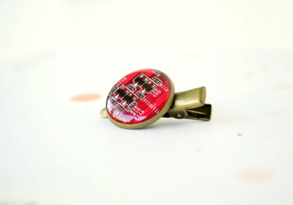 medium resolution of hair clip red circuit board alligator clip hair by hardresols