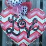 Valentine Chevron Door Hanger Love Happy Valentine S Day