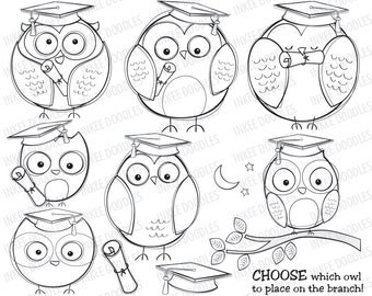 Graduation Owls School College Education Doodles Cute