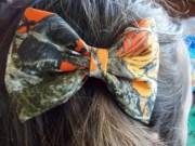 camo orange realtree hair bows