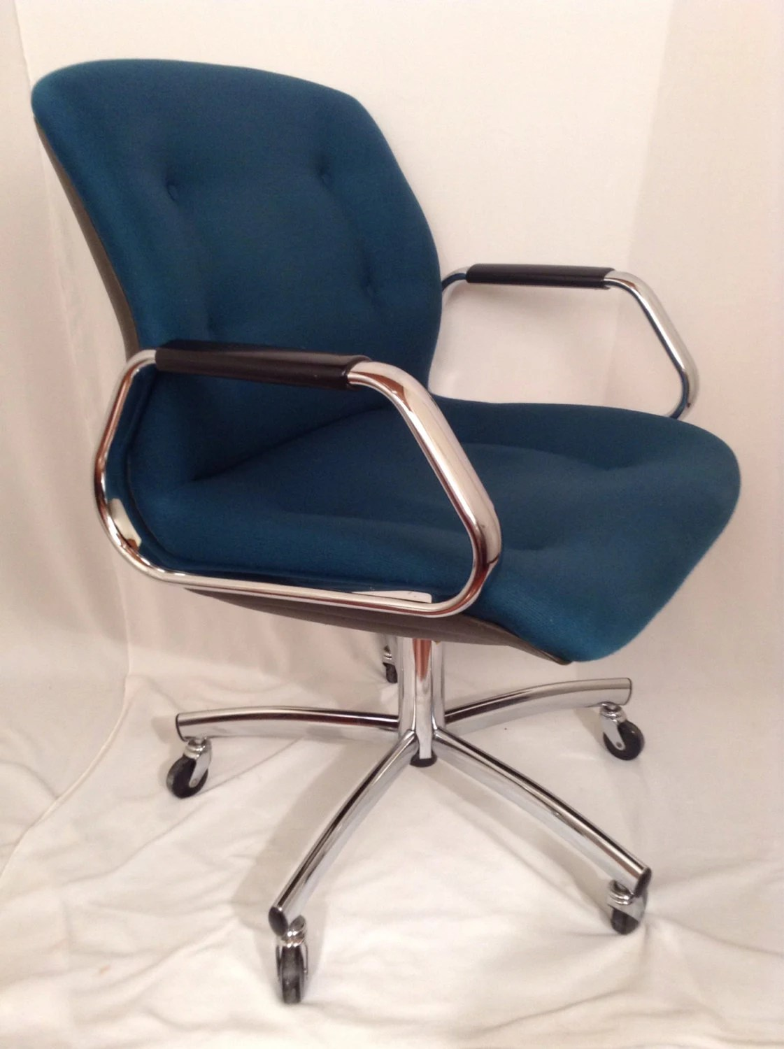 steelcase vintage chair koken barber age reserved sarah model 454 desk green