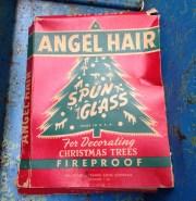 christmas tree angel hair spun